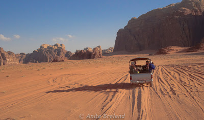 Jeep ride across the southern desert, Wadi Rhum, Jordan