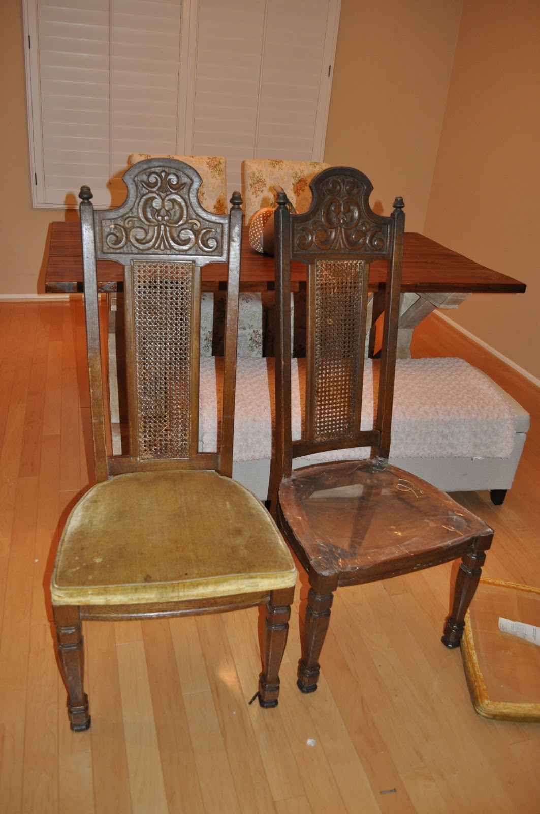Diy Dining Chairs Diy 5 Dining Chair Redone A Boy A Girl And 2 Mini