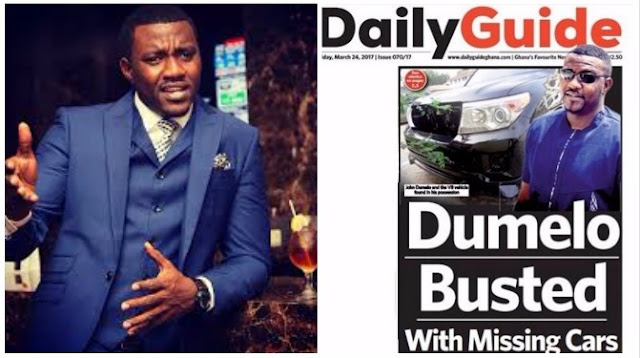 Busted: John Dumelo Caught With Missing Government Vehicles