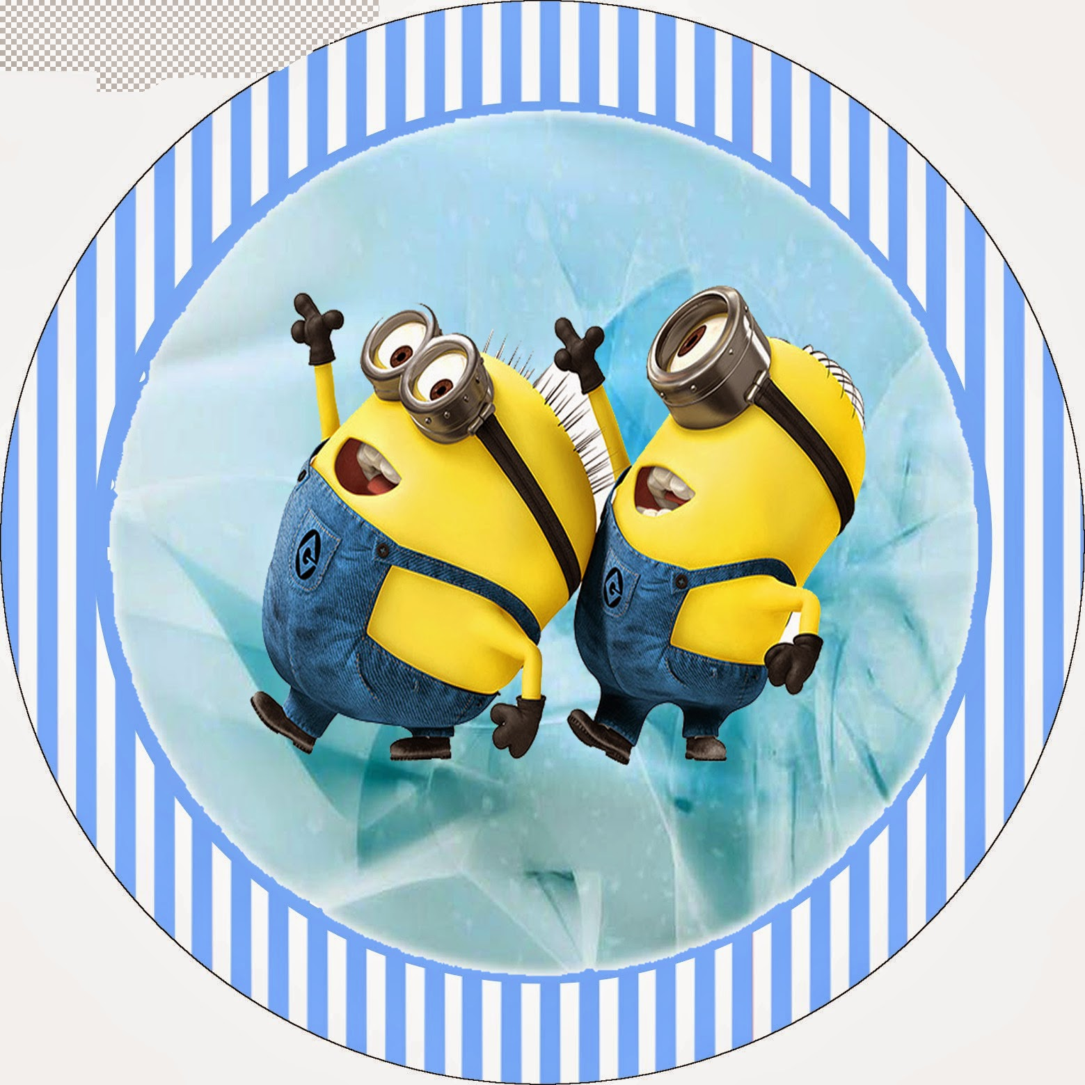 Minions Toppers, labels or stickers.