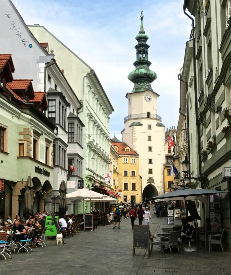 Michalska Street in Bratislava's Old Town | Ms. Toody Goo Shoes #bratislava #slovakia #danuberivercruise