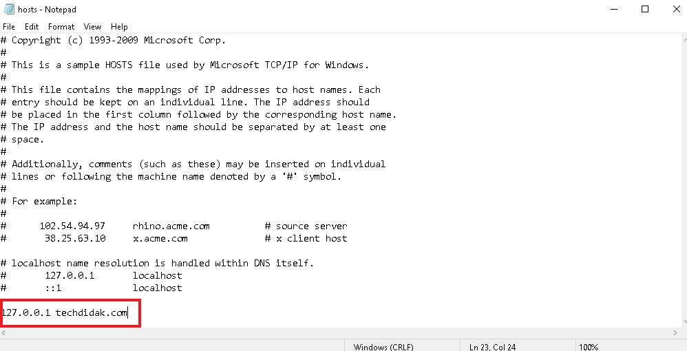 edit file host
