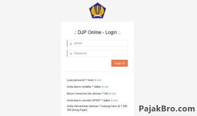 DJP Online Error tidak Bisa Diakses