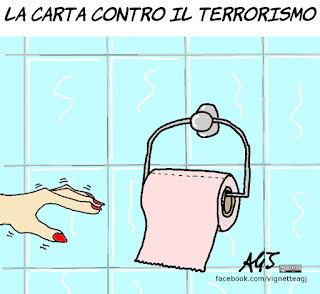 Boschi, terrorismo, riforma costituzionale, satira, vignetta