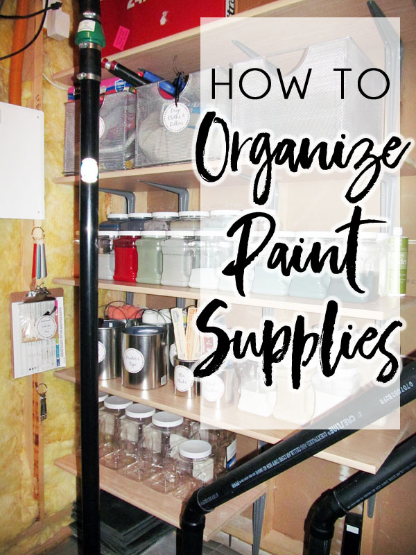 The best way to organize paint supplies. Find out what paint supplies are safe to store in a utility room and how to organize extra paint, paint brushes, rollers, and much more in a small space.
