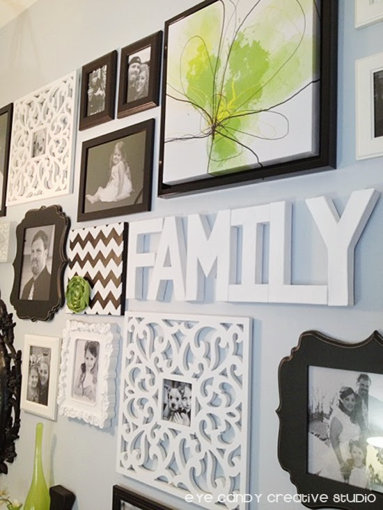 black and white living room gallery wall, IKEA photo frames, black and white