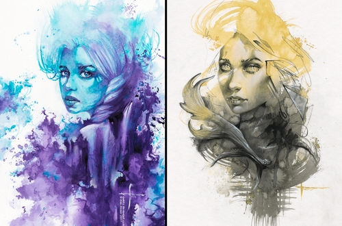 00-Max-Moser-Paintings-of-Multicolored-Watercolor-Portraits-www-designstack-co