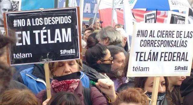 Protestas en Buenos Aires por despido de 354 periodistas