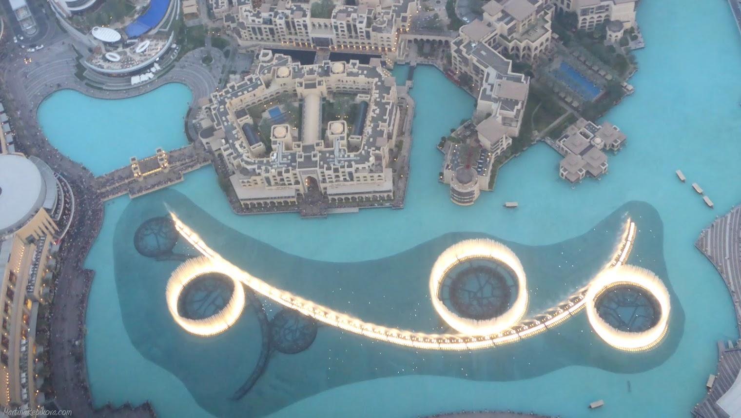 Burj Khalifa, pohľad na Tancujúcu fontánu