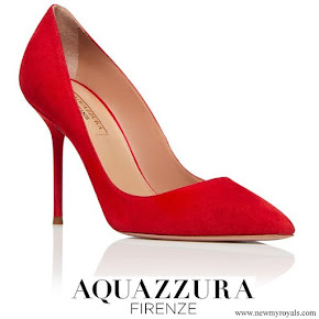 Meghan Markle wore Aquazzura Purist pumps