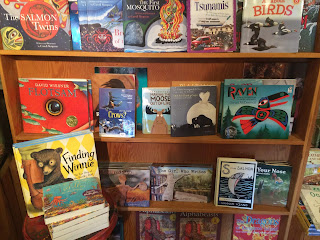 Children's books at Mermaid Tales Bookshop, Tofino, Vancouver Island