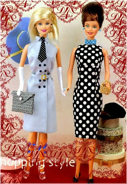 Barbie - Como Fazer 2 Vestidos Diferentes Para a Barbie ou Monster High - Com Moldes
