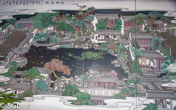 Suzhou, plano del jardin del pescador. China