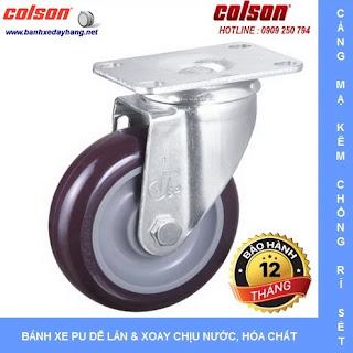 Bánh xe đẩy nhựa PU giá rẻ SP Caster Colson Mỹ tại Hải Phòng www.banhxedayhang.net