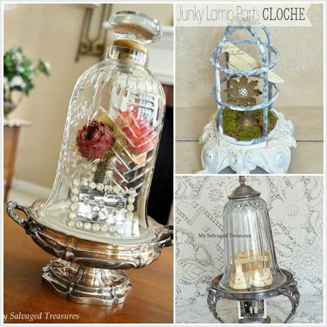 repurposed junk trash to treasure cloches