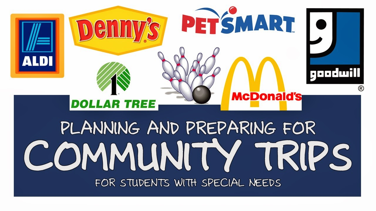 How to plan out community trips for the school year for special education and life skill classes