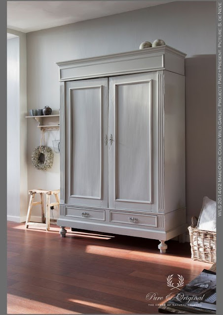 pure and original, painted armoire, chalk paint, how to paint furniture, refinished furniture, painting furniture, furniture makeover, diy