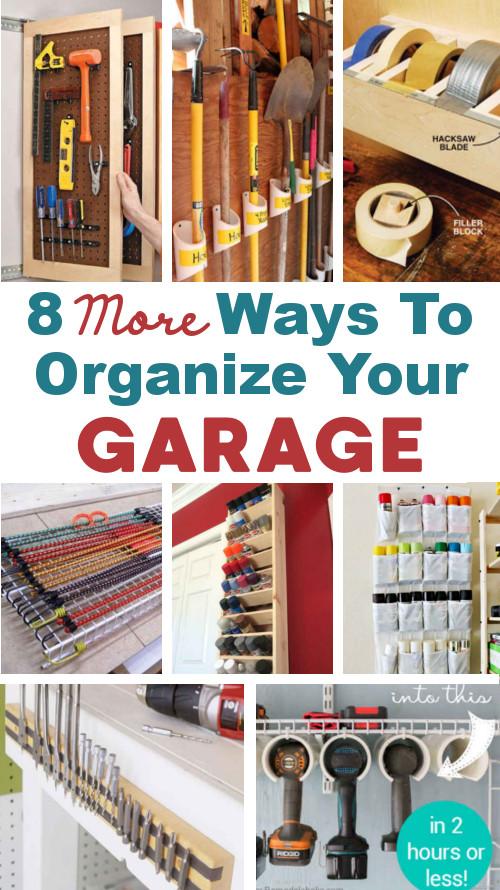 8 Ways To Organize Your Garage