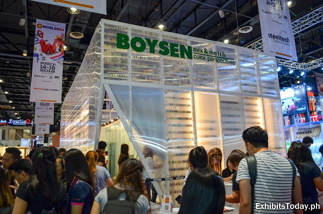 Boysen trade show display