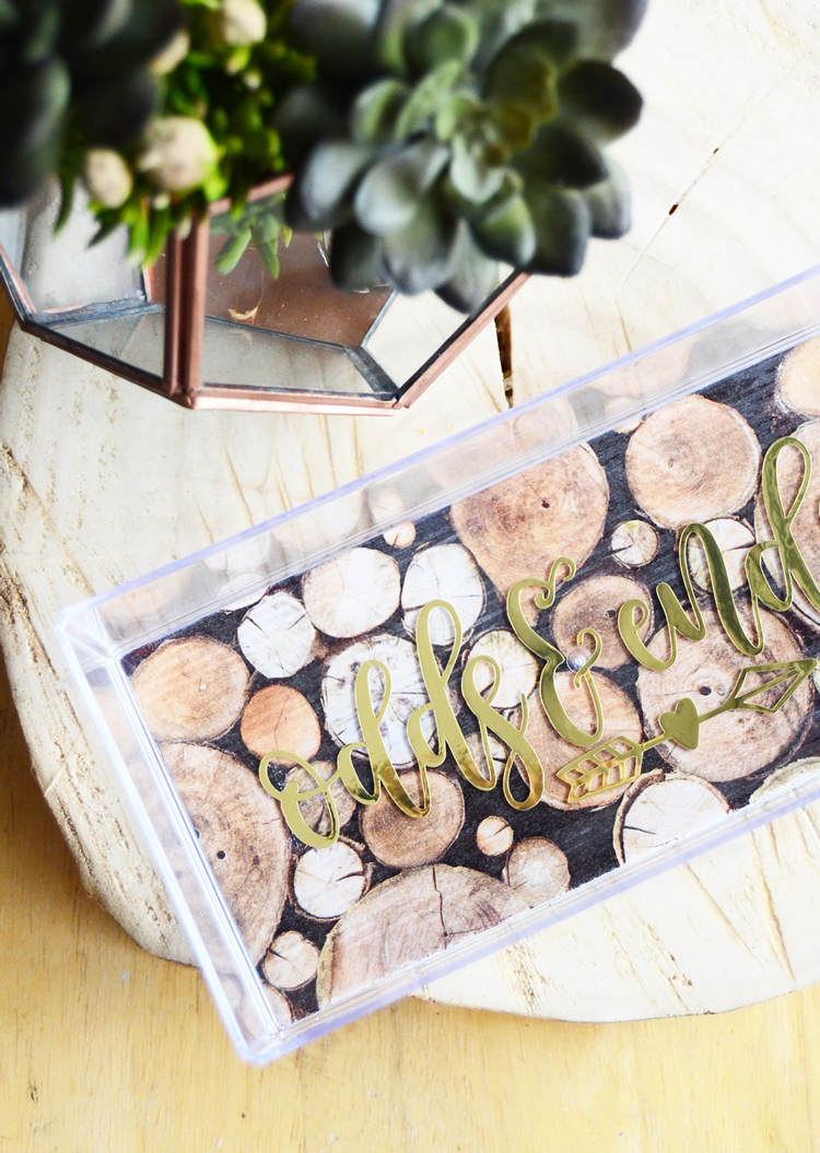 decoupaged acrylic tray