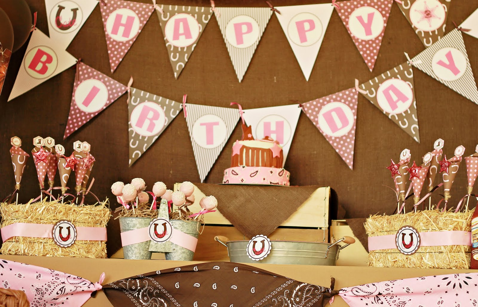 My next winning party feature goes to this adorable PINK COWGIRL 2ND BIRTHDAY PARTY submitted by Pluff Mudd Studio! Isnu0027t this party just darling? & Karau0027s Party Ideas Pink Cowgirl Party! | Karau0027s Party Ideas