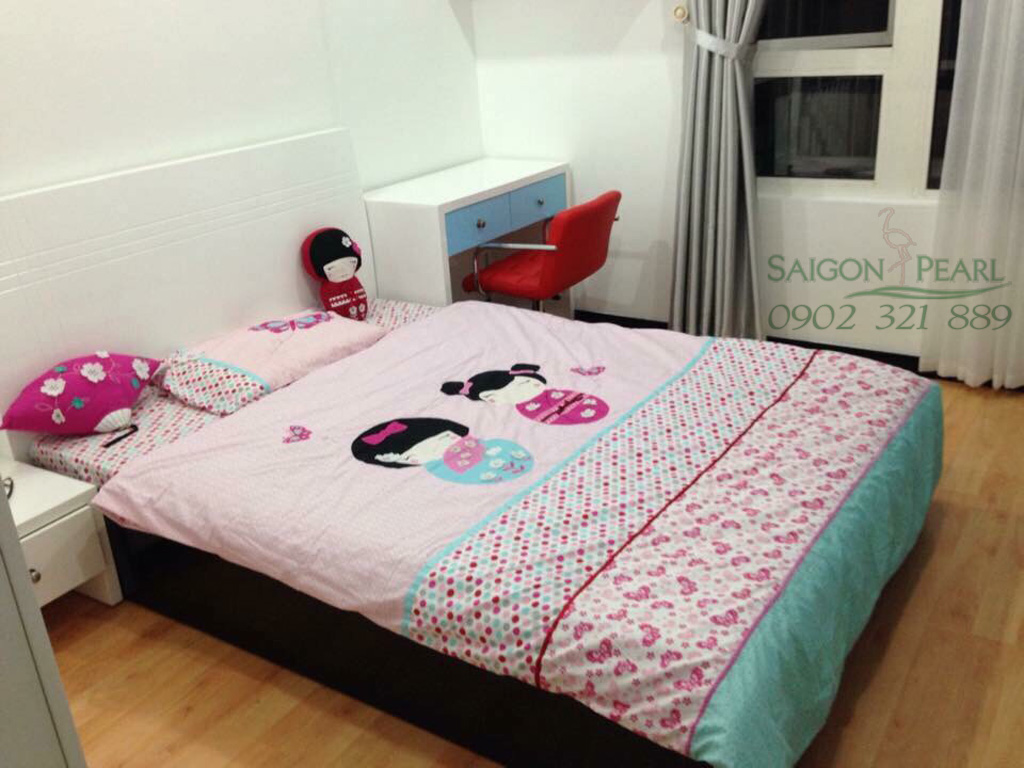Bán căn Saigon Pearl 3 phòng ngủ tòa Ruby 2 view công viên Vinhomes - phòng ngủ cho bé