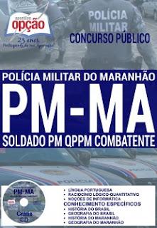 Apostila para concurso da Polícia Militar do Maranhão (PM/MA), Soldado PM e Soldado Bombeiro.