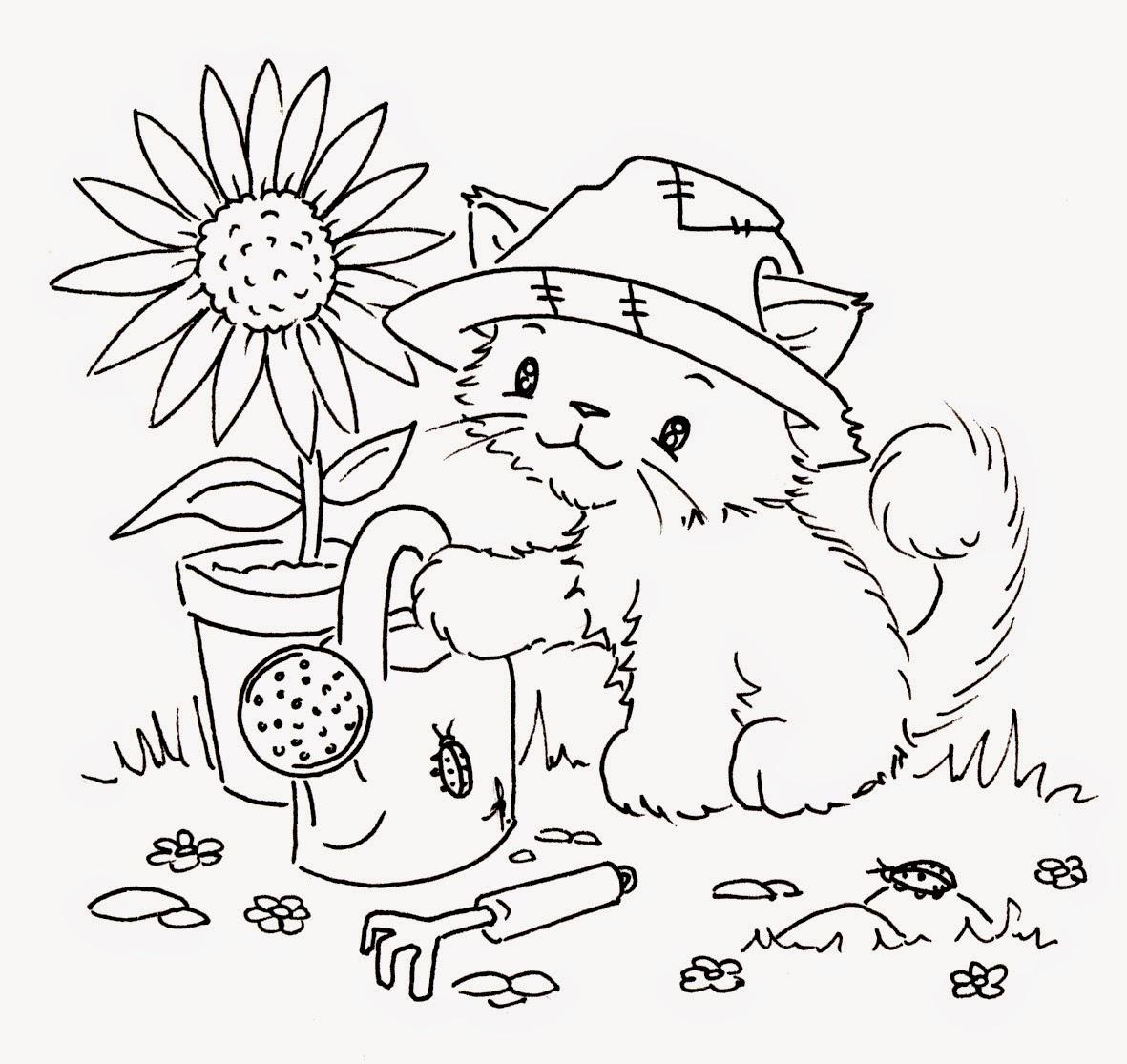 imagens de gatinhos fofinhos filhotes para colorir