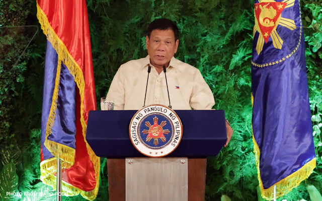 President Rodrigo Duterte Speech at Malacanang Palace