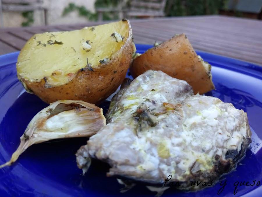 Melva asada patatas crockpot olla lenta