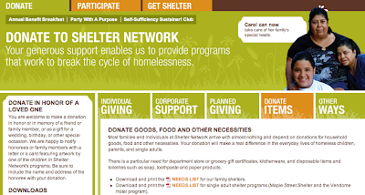 Shelter Network web site