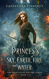Princess of Sky, Earth, Fire and Water - a fantasy romance discount book promotion Cassandra Finnerty
