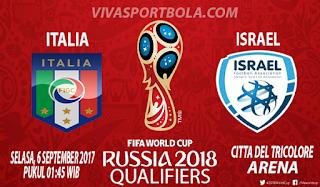 Prediksi Italia vs Israel 6 September 2017