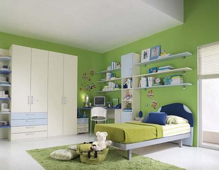 desain+kamar+yang+indah+warna+hijau