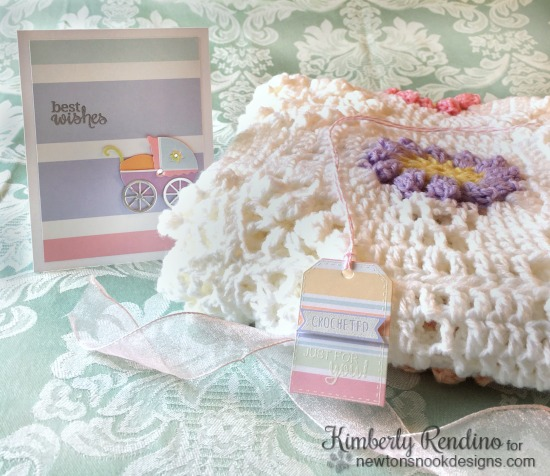 baby shower | coordinated ensemble | tag | crochet | gift giving | handmade | newton's nook designs | kimpletekreativity.blogspot.com
