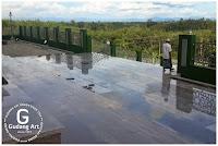 intalasi pagar masjid aluminium cor