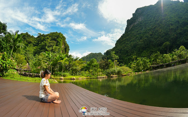 The deck area right beside the Hotsprings Lake @ The Banjaran Hotsprings Retreat, Ipoh