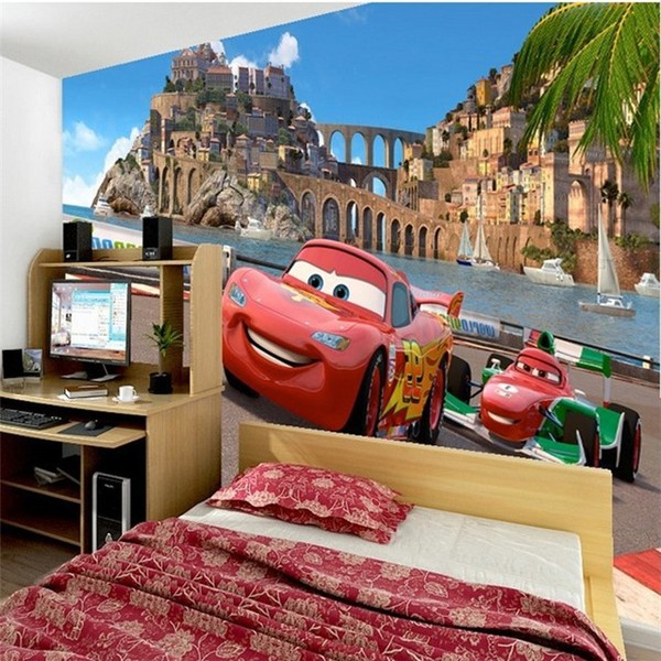 Disney Cars Wall Mural Kids Room