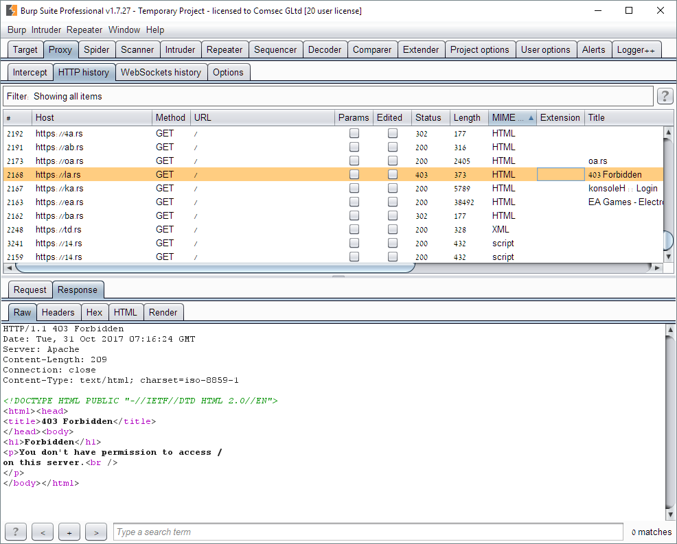 Comsec Blog on Information Security: ComTech: Using Burp