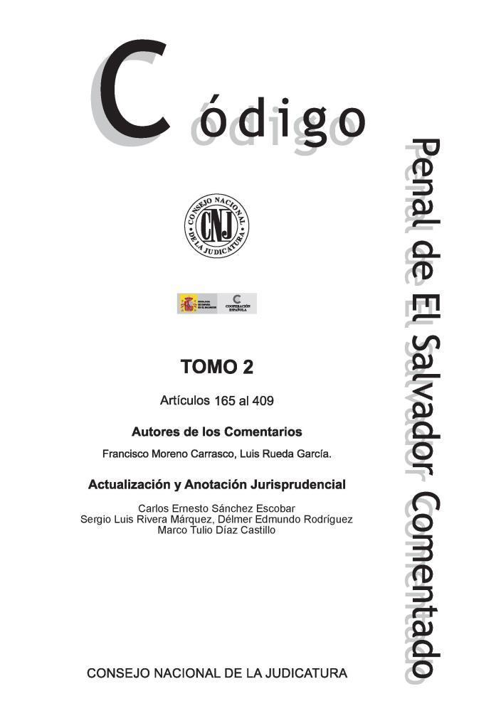 Código penal de El Salvador comentado, tomo II