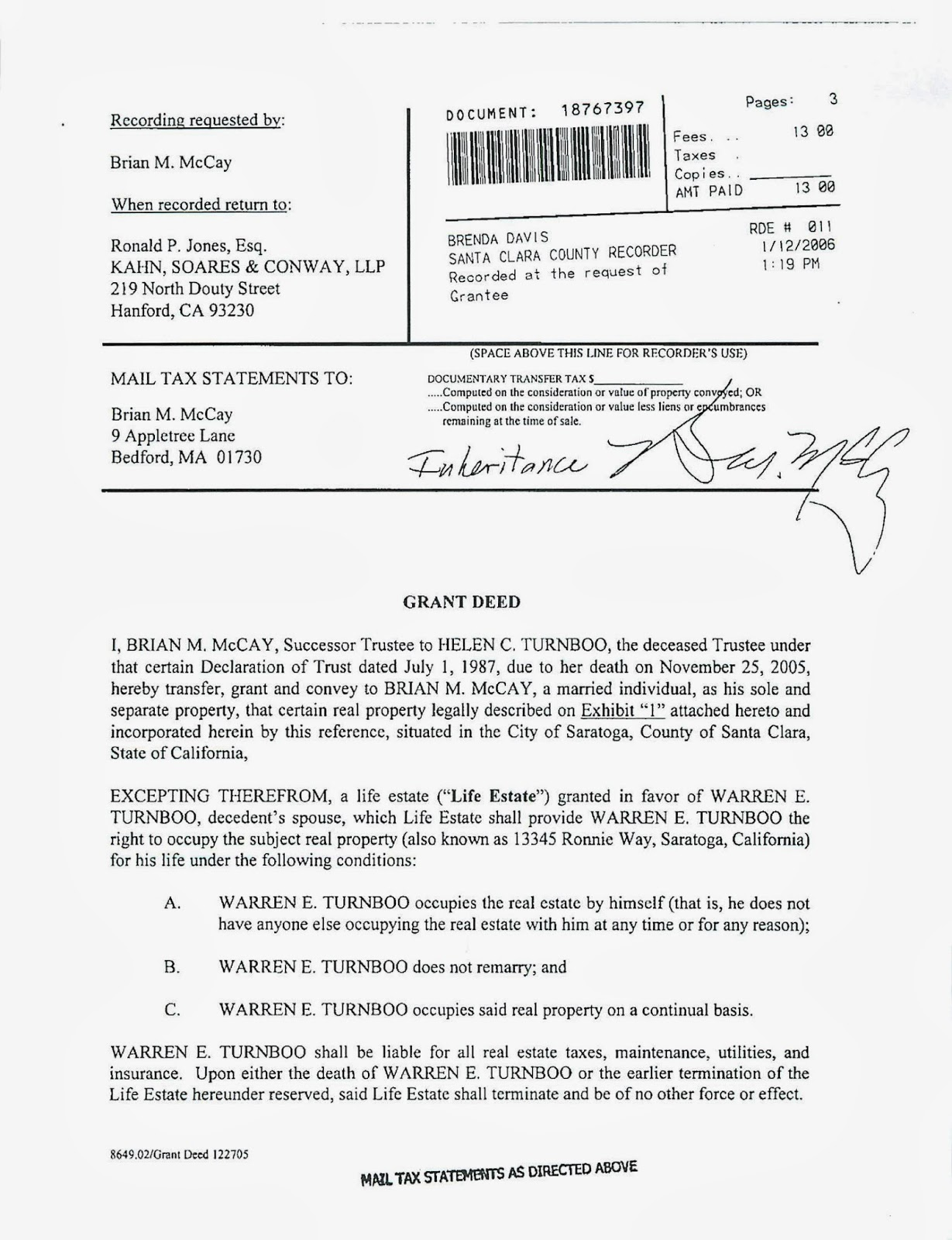 deed of conveyance template - estate planning in california what is a life estate