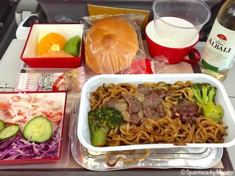 イベリア航空スペイン直行便の機内食