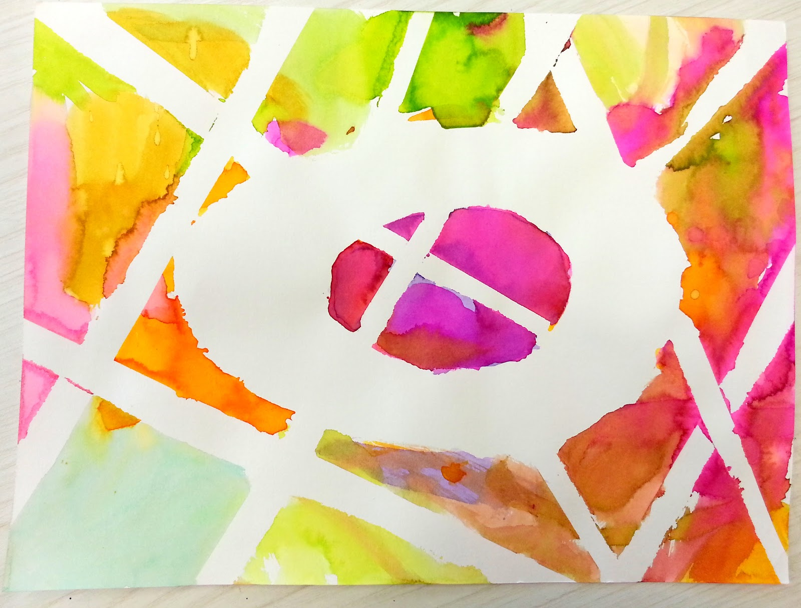 Choices For Children Watercolor Egg Art