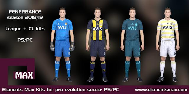 Fenerbahce PES Kits 2018/19