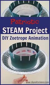 DIY Zoetrope Animation Patriotic STEAM Project