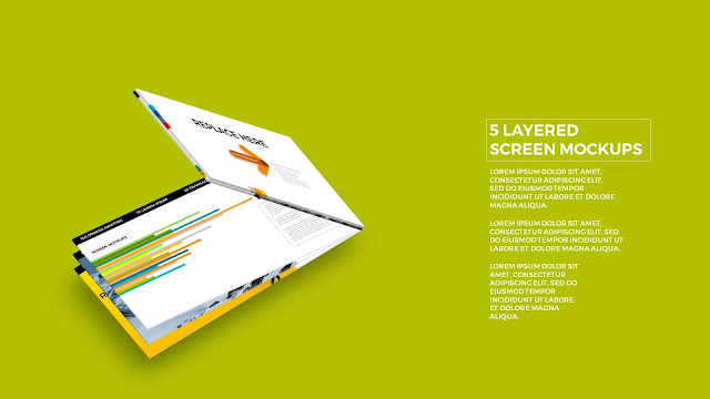 5 Layered Opening Screen Mockukp Templates in Powerpoint Slide3