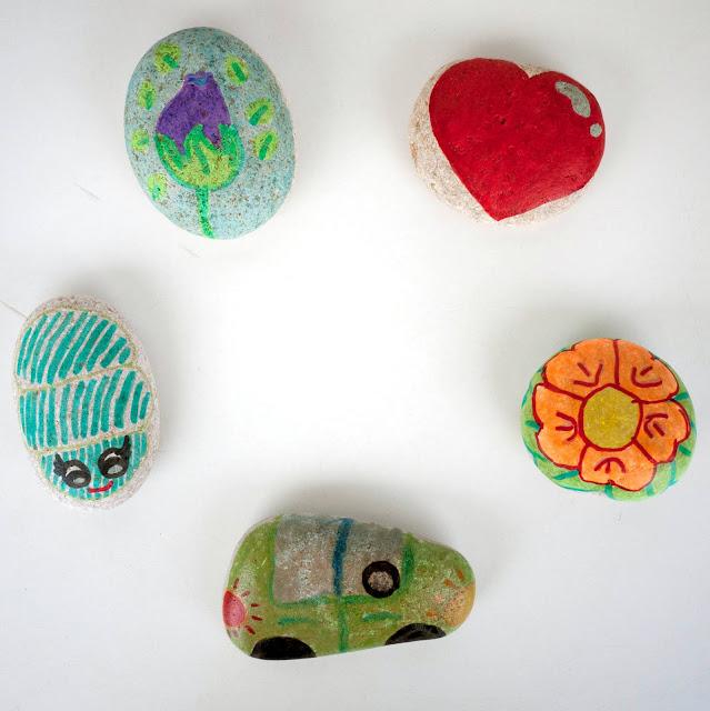 Regalos de pisapapeles de piedra DIY