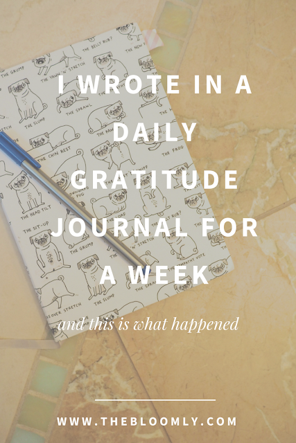 What Happened When I Wrote in a Gratitude Journal for a Week