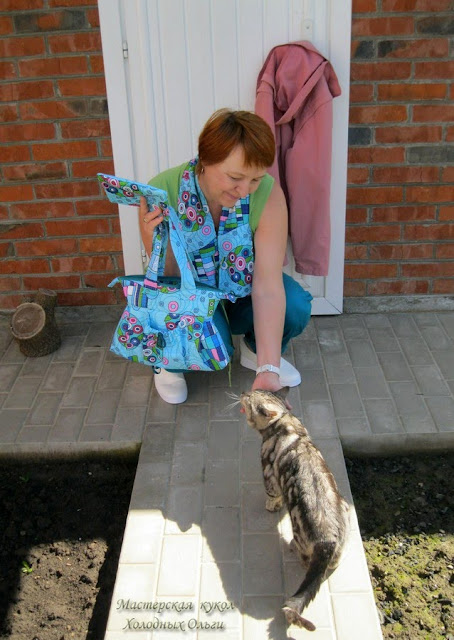 Сумка, косметичка и кот