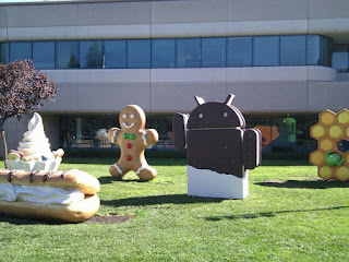 """F - Froyo (short form of """"Frozen Yogurt"""") - Android version 2.2 G - Gingerbread - Android version 2.3 I - Ice Cream Sandwich - Android version 4.0"""
